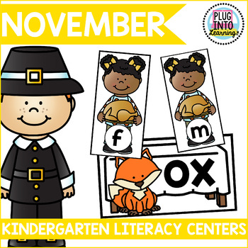 November Literacy Centers for Kindergarten