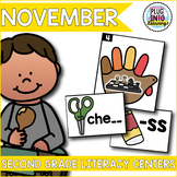 November Literacy Centers for Second Grade