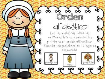 November Literacy Centers in Spanish