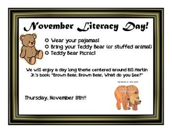 November Literacy Day Idea