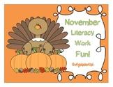 November Literacy  Fun!