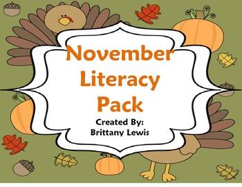 November Literacy Pack