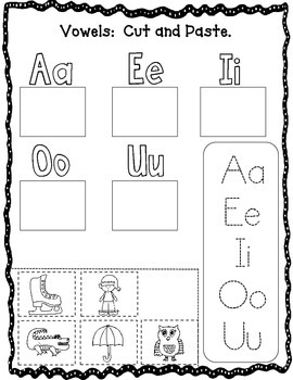 November No Prep Literacy Packet:  Kindergarten Literacy Centers