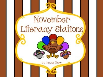 November Literacy Stations