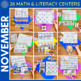 November Literacy and Math Centers! (Bundled) Aligned to the CC
