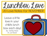 November Lunch Box Love Notes