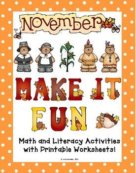 November Make It Fun Activities!