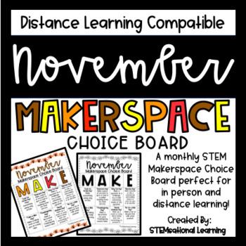 November Makerspace STEM Choice Board