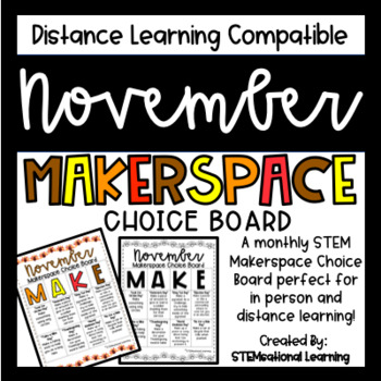 November Makerspace STEM Choice Board