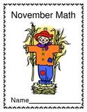 November Math Activities Packet