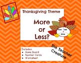 November Math Center: More/Less