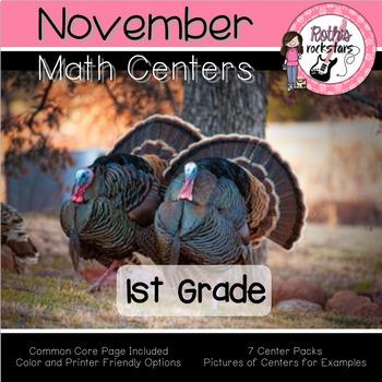 November Math Center Pack - 1st Grade