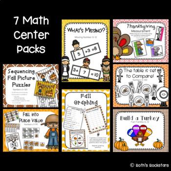 November Centers - 1st Grade - Math