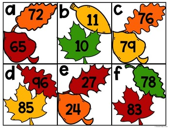 November Math Centers (1st Grade)