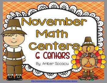 November Math Centers 6 Common Core Aligned Activities for 2nd and 3rd Grade