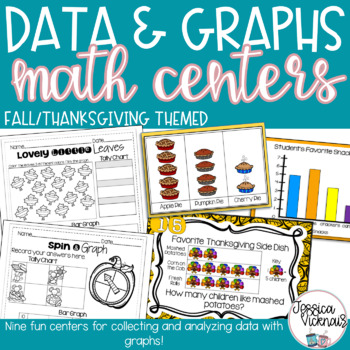 November Math Centers - Data and Graphs