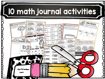 November Math Centers, Journals, and Printables Kindergarten