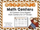 November Math Centers Menu {CCS Aligned} Grade 2