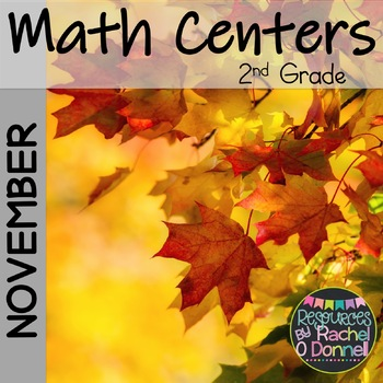 November Math Centers Second Grade