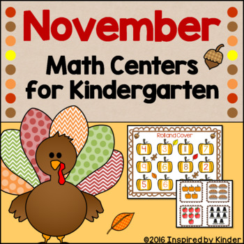 November Math Centers for Kindergarten