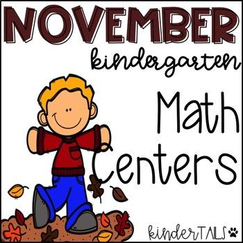 Thanksgiving Math Centers for Kindergarten