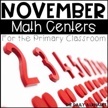 Kindergarten Math Centers for November