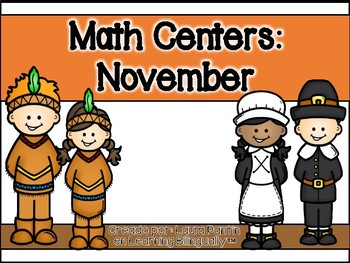 November Math Centers in Spanish