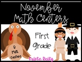 November Math Centers {word problems, number lines, expanded form}