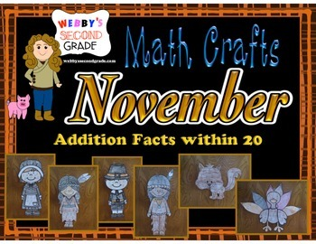 November Math Crafts Addition Facts within 20
