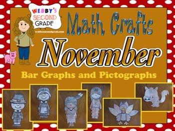 November Math Crafts Bar Graphs and Pictographs