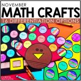 November Math Crafts (Differentiated) + Bonus Corn Craft