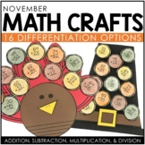 November Math Crafts / Thanksgiving Activities / Turkey Craft