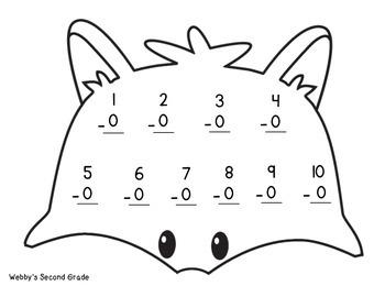 November Math Crafts Freebie