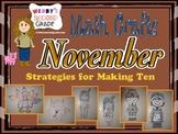 November Math Crafts Strategies for Making Ten