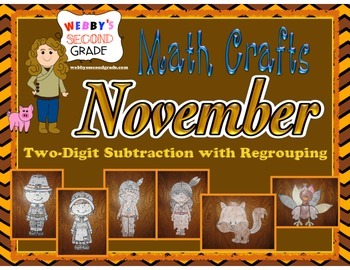 November Math Crafts Subtracting Two-Digit Numbers with Regrouping