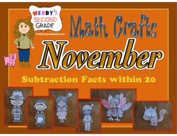 November Math Crafts Subtraction Facts within 20