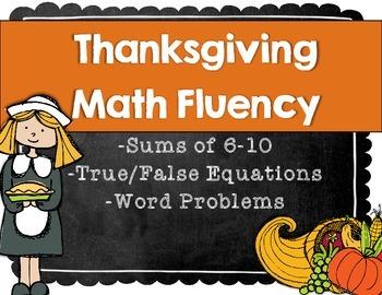 November Math Fact Practice