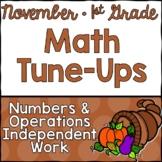 November Math First Grade