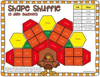 November Math Games - Print and Play!