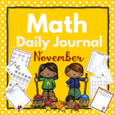 Kindergarten - Special Education -Math Daily Journal November