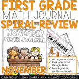 November Math Journal (1st Grade)