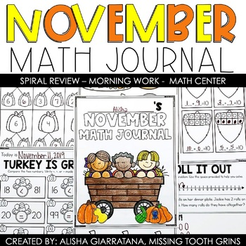 November Math Journal (1st Grade)