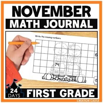 November First Grade Math Journal