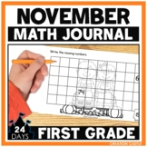 November First Grade Math Journal