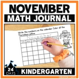 November Kindergarten Math Journal