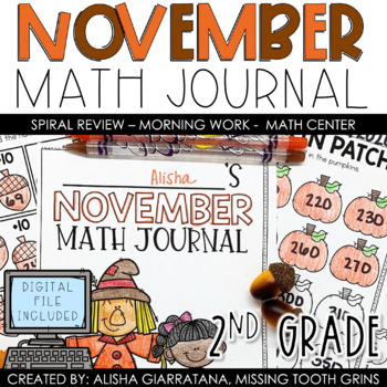 Math Journal November (2nd Grade)