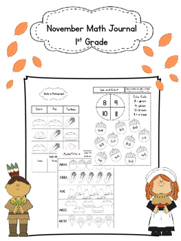 November Math Journal Activities