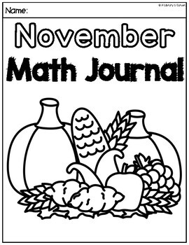 November Math Journal (Kindergarten - Common Core)