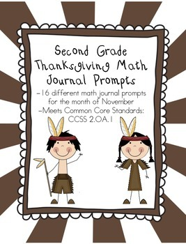 November Math Journal Prompts