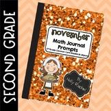 November Math Journal Prompts Second Grade